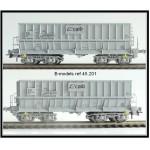 B-Models 45201 Set B 2x Erzwagen grau CAIB NMBS Ep.V