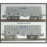 B-Models 45209 Set B 2x Erzwagen grau VTG NMBS Ep.V-VI