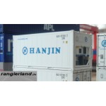 C-RAIL 20ft Kühlcontainer Container Reefer HANJIN H0