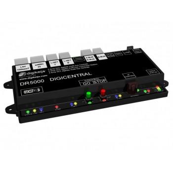 DIGIKEIJS DR5000 DIGICENTRAL Multi-Digitalzentrale universal für fast alle Steuergeräte - LAN, WLAN - LAGERWARE