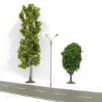 DIGIKEIJS DR60212 Straßenlampe 2 Leuchten modern LED warmweiß H0 - Set mit 4 Stück