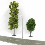 DIGIKEIJS DR60211 Straßenlampe modern LED warmweiß H0 - Set mit 4 Stück