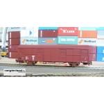 HERIS 17503 gedeckter Güterwagen 2-achsig braun Gbs263 JZ Ep.IV