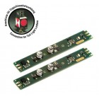 Massoth 8124202 LED Lichtleiste 330mm analog 10mm breit 5-24V Anschluss Zugschlussbeleuchtung 2er Pack