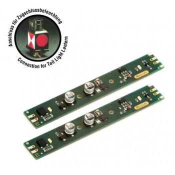 Massoth 8122202 LED Lichtleiste 100mm analog 10mm breit 5-24V Anschluss Zugschlussbeleuchtung 2er Pack