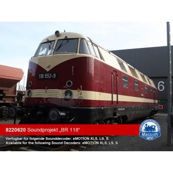 Massoth 8220620 eMOTION XLS Sounddecoder BR 118 Diesellok