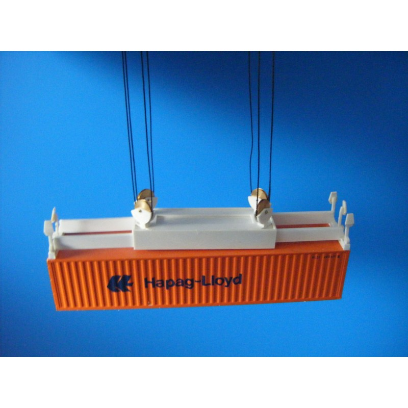 h0 container spreader greifer f r kran ladegeschirr 4 umlenkrollen 8 seile 1 87 ho. Black Bedroom Furniture Sets. Home Design Ideas