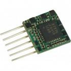 Zimo MX616F Miniatur Decoder - 8 x 8 x 2,4 mm -  0,7 A  8-pol Schnittstelle NEM651 an Drähte
