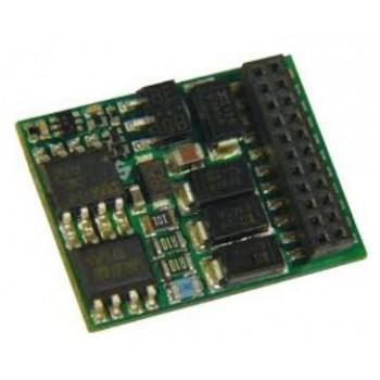 Zimo MX635PV H0 (Spur-0) Decoder mit Energiesp.-Ansch.(16V) - 25 x 15 x 3,5 mm - 1,6 A mit Niederspannung 1,5 V für Fu-Ausgänge