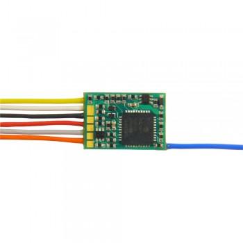 Zimo MX617N Miniatur Decoder - 13 x 9 x 2,6 mm -  0,8 A 6-pol Schnittstelle NEM651 auf Platine, keine Drähte